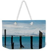 Beautiful Rotten Mooring On A Beach Weekender Tote Bag