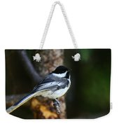 Blackcapped Chickadee Weekender Tote Bag