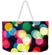 Blurred Christmas Lights Weekender Tote Bag by Elena Elisseeva