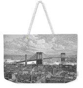 Brooklyn Bridge, 1883 Weekender Tote Bag