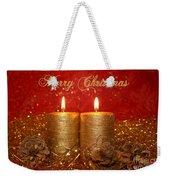 2 Candles Christmas Card Weekender Tote Bag