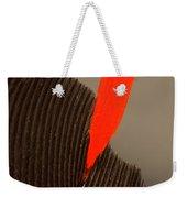 Cedar Waxwing Feather Weekender Tote Bag