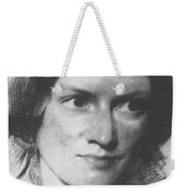 Charlotte Bronte, English Author Weekender Tote Bag by Science Source