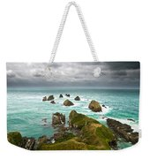 Cliffs Under Thunder Clouds And Turquoise Ocean Weekender Tote Bag
