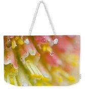 Close Up Of Flower Stamen Weekender Tote Bag