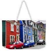 Colorful Houses In St. John's Weekender Tote Bag