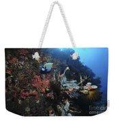Colorful Reef Scene With Coral Weekender Tote Bag
