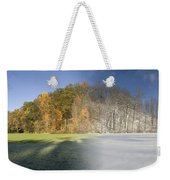 Composite Of Fall And Winter Weekender Tote Bag