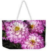 Dahlia Named Pink Bells Weekender Tote Bag