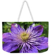 Double Clematis Named Crystal Fountain Weekender Tote Bag