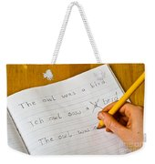 Dyslexia Testing Weekender Tote Bag by Photo Researchers, Inc.
