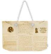 Emancipation Proclamation Weekender Tote Bag