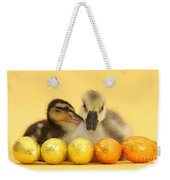 Embden X Greylag Gosling And Mallard Weekender Tote Bag