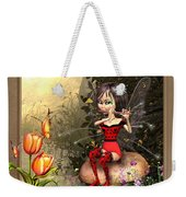 Fairy Playing The Flute Weekender Tote Bag