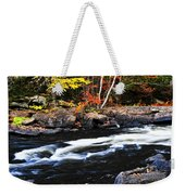 Fall Forest And River Landscape Weekender Tote Bag by Elena Elisseeva