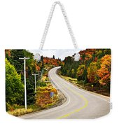 Fall Highway Weekender Tote Bag by Elena Elisseeva