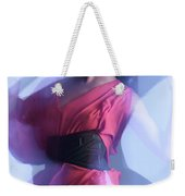Fashion Photo Of A Woman In Shining Blue Settings Weekender Tote Bag