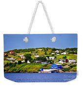 Fishing Village In Newfoundland Weekender Tote Bag by Elena Elisseeva