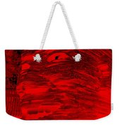 Gentle Giant In Negative Red Weekender Tote Bag