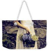 Girl With Flowers Weekender Tote Bag by Joana Kruse