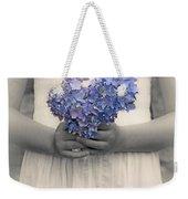 Girl With Hydrangea Weekender Tote Bag by Joana Kruse