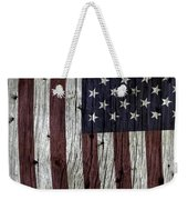 Grungy Textured Usa Flag Weekender Tote Bag