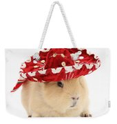 Guinea Pig Wearing A Hat Weekender Tote Bag