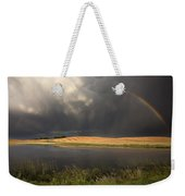Hail Storm And Rainbow Weekender Tote Bag