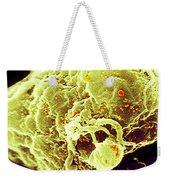 Hiv-1 Infected T4 Lymphocyte Sem Weekender Tote Bag