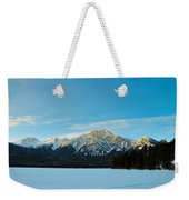 Illuminated Winter Landscape By The Sun Weekender Tote Bag