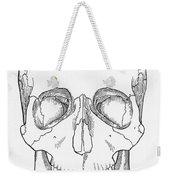 Illustration Of Anterior Skull Weekender Tote Bag