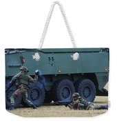 Infantry Soldiers Of The Belgian Army Weekender Tote Bag