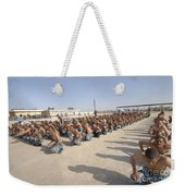 Iraqi Police Cadets Being Trained Weekender Tote Bag by Andrew Chittock
