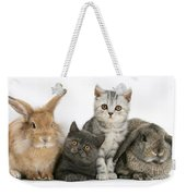 Kittens And Rabbits Weekender Tote Bag