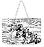 League Of Nations Cartoon Weekender Tote Bag