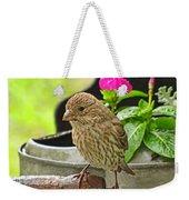 Little Girl Finch Weekender Tote Bag