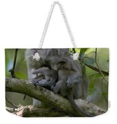 Long-tailed Macaque Macaca Fascicularis Weekender Tote Bag by Cyril Ruoso