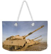 M1 Abrams Tanks At Camp Warhorse Weekender Tote Bag
