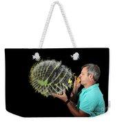 Man Over-inflating Balloon Weekender Tote Bag