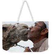 Man With His Camel Weekender Tote Bag