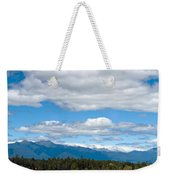 Massive Cloudy Sky Above The Wilderness  Weekender Tote Bag