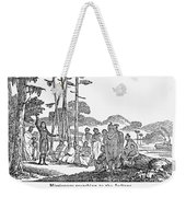 Missionary And Native Americans Weekender Tote Bag