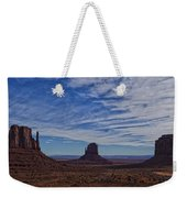 Morning Clouds Over Monument Valley Weekender Tote Bag