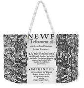 New Testament, King James Bible Weekender Tote Bag