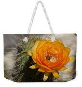 Orange Cactus Flower Weekender Tote Bag
