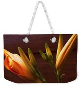 Orange Daylily Weekender Tote Bag