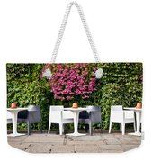 Outdoor Cafe Weekender Tote Bag by Tom Gowanlock