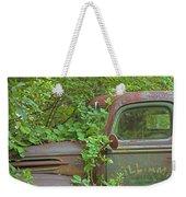 Overgrown Rusty Ford Pickup Truck Weekender Tote Bag