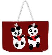 2 Pandas In Love Weekender Tote Bag