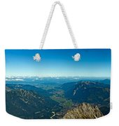 Panoramic View Zugspitze German Austrian Boarder Weekender Tote Bag